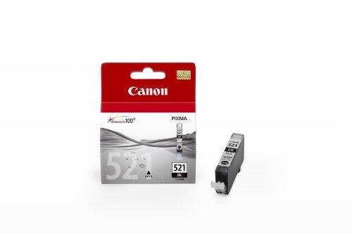 Canon Tintenpatrone CLI-521 BK für iP3600/4600/4700, MP540/550/560/620/630/640/980/990, MX860/870, Foto-Schwarz