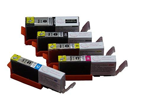 Lebensmitteltinte Patronen Set TK151-TK155 mit Chip (PGI-550 / CLI-551) für Canon IP7250, MG5450, MG5550, MG5650, MG6450, MG6650, IX6850 (A3), MX725, MX925