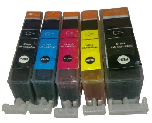 5 Kompatible Patronen mit Chip für Canon PGI550 XL CLI 551 XL geeignet für Pixma: IP7250 / MG5450 / MG6350 / MX725 / MX925 / MG5550 / MG6450 / MG7150