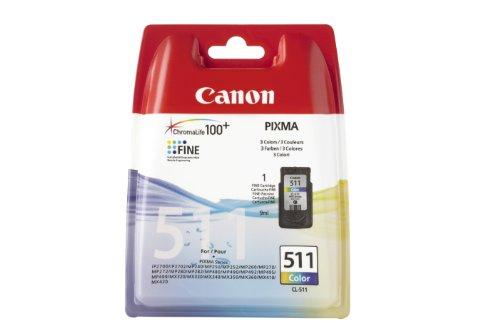 Canon Tintenpatrone CL-511  für MP240/260/270/280/490/495, MX320/330/340/350/360/410/420, iP2700, farbig