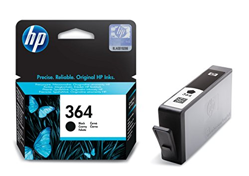 HP 364 Schwarz Original Druckerpatrone für HP Photosmart 5460, 5510, 5515, 5520, 6510, 6520, 7510, 7520, C5380, C6380, B8550, HP Officejet 4620, 4622, HP Deskjet 3070A, 3520