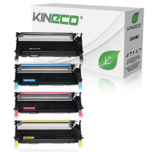 4 Toner kompatibel zu CLP-310, CLP-315, CLX-3170FN, CLX-3175FN - Schwarz 2.500 Seiten, Color je 2.000 Seiten