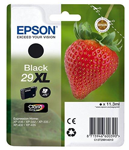 Epson T29914010 Tintenpatrone Erdbeere, Tinte Claria Premium Ink, Singlepack, schwarz