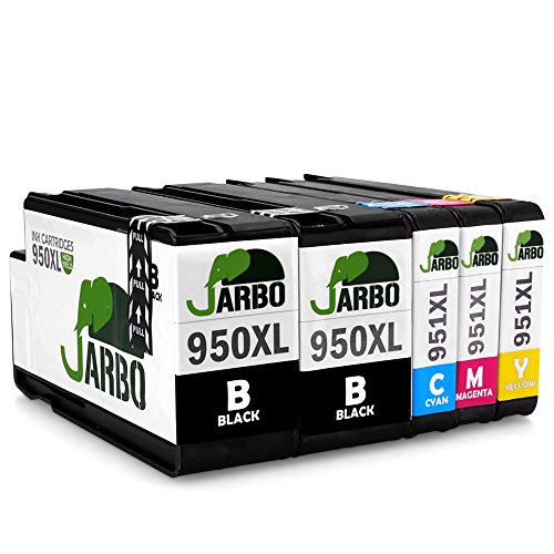 JARBO Kompatibel HP 950XL 951XL Tintenpatronen komm mit neuen chips Hohe Kapazität kompatibel zu HP Officejet Pro 8600 8610 8620 8630 8640 8660 8615 8625 8100 251dw 271dw Drucker (2 Schwarz,1 Cyan,1 Magenta,1 Gelb)