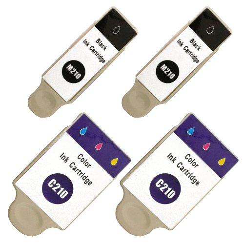 4 kompatible Druckerpatronen mit Füllstandsanzeige color für Samsung CJX-1000 CJX-1050W CJX-2000FW Patronen kompatibel zu INK-M210 INK-C210 INK-M215