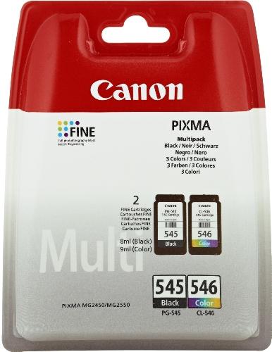 Canon PG-545/CL-546 Tintenpatronen (2-er Pack; 8ml/9ml) schwarz/mehrfarbig