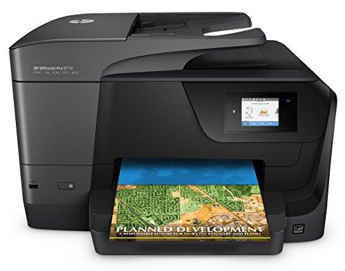 HP OfficeJet Pro 8710 Multifunktionsdrucker (A4, Drucker, Scanner, Kopierer, Fax, WLAN, LAN, Duplex, USB, 1200 x 1200 dpi) schwarz