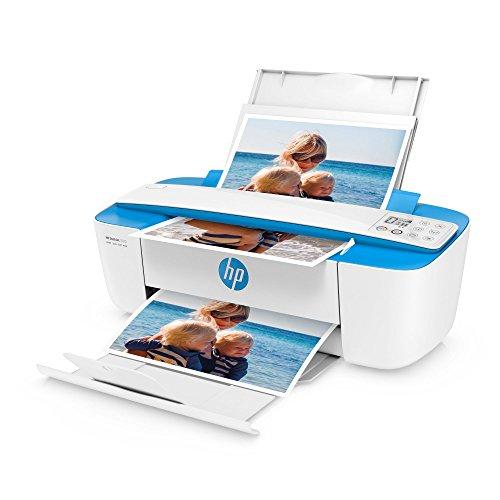 HP DeskJet 3720 (J9V93B) Multifunktionsdrucker (Drucker, Scanner, Kopierer, HP Instant Ink, WLAN, ePrint, Airprint, USB, 4800 x 1200 dpi) weiß/blau