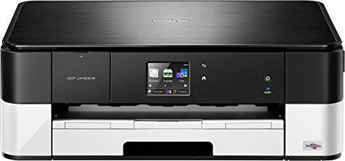 Brother DCP-J4120DW 3-in-1 Farbtintenstrahl-Multifunktionsgerät (Drucker, Scanner, Kopierer, WLAN, 6.000 x 1.200dpi, USB 2.0 Hi-Speed) schwarz/weiß
