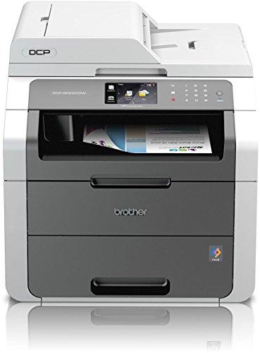 Brother DCP-9022CDW kompaktes 3-in-1 Multifunktionsgerät (Kopierer, Farbscanner) weiß/dunkelgrau