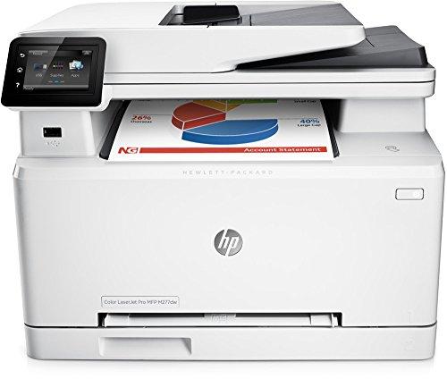 HP LaserJet Pro MFP M277dw Laser Multifunktionsdrucker (A4, Farblaserdrucker, Scanner, Kopierer, Fax, Duplex, Ethernet, USB, Wlan, 600 x 600) weiß