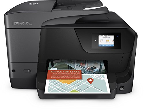 HP OfficeJet Pro 8715 Multifunktionsdrucker (A4, Drucker, Scanner, Kopierer, Fax, HP Instant Ink, WLAN, LAN, Duplex, HP ePrint, Airprint, Cloud Print, USB, 1200 x 1200 dpi) schwarz