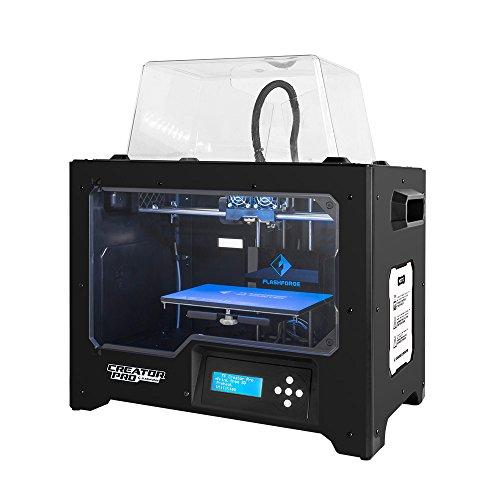 Flashforge 3D Drucker Creator Pro Dual Extruder Drucker mit optimierter Körperbau Plate und Upgraded Spool-Halter