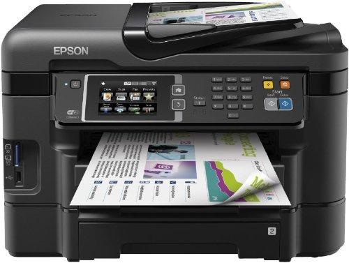 Epson WorkForce WF-3640DTWF 4-in-1 Multifunktionsdrucker (Drucken, scannen, kopieren, faxen, Duplex, WiFi, 2 Papierfächer, Dokumenteneinzug) schwarz
