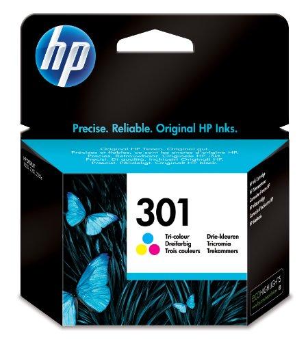 HP 301 Blau/Gelb/Rot Original Druckerpatrone für HP Deskjet, HP Envy, HP Photosmart