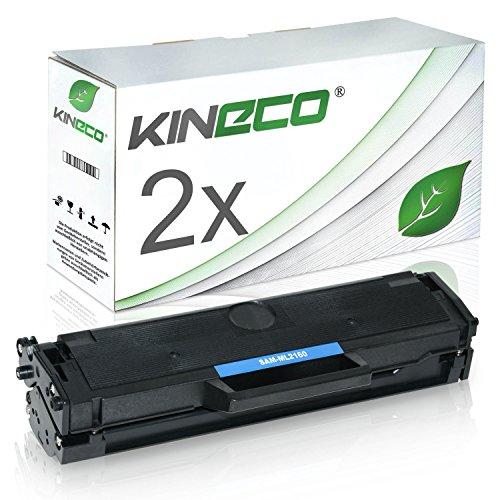 2 Toner kompatibel zu Samsung MLT-D101S ML-2160 2161 2162 2164 W 2165 W 2168 SCX-3400 F Series 3401 3405 F FW W SF-760 P - Schwarz je 1.500 Seiten