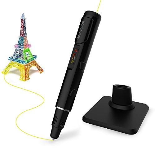 3D Druckstift Homecube 3D Pen Druckstift3D Stiftmit 3x 3m PLA Filament Netzteil für Freihand 3D Zeichnungen (Schwarz)