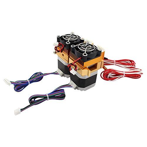 Anycubic Verbesserte MK8 Dual-Extruder MakerBot 0,4 mm Druckkopf für 3D-Drucker